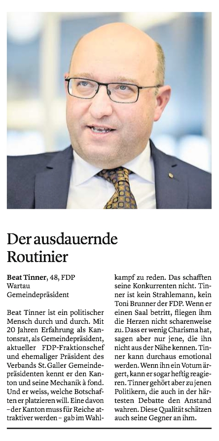Wahlzeitung des St.Galler Tagblatt