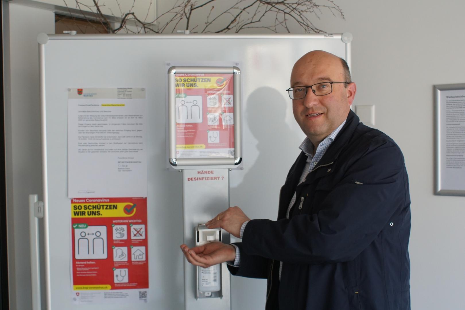Demokratie trotz Covid-19 - Josef Dudli unterstützt Beat Tinner