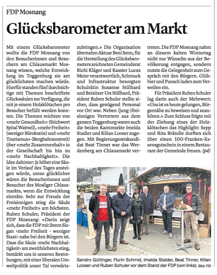 """Chlausmarkt-Besucher wünschen sich """"mehr Freiheit"""""""